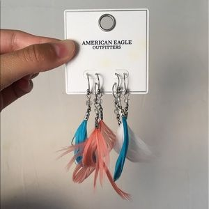 AE Feather Earrings Set